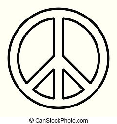 beweging, meldingsbord, symbool, vrede, disarmament, pacific, vector, internationaal, anti-war, omtrek, pictogram