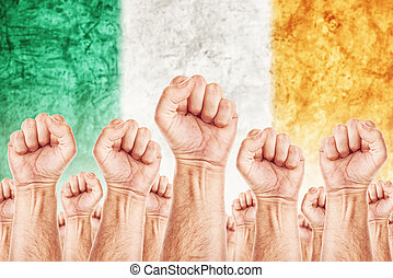 beweging, unie, werkmannen , arbeid, ierland, staking