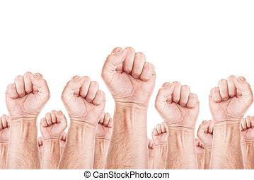 beweging, unie, werkmannen , arbeid, staking