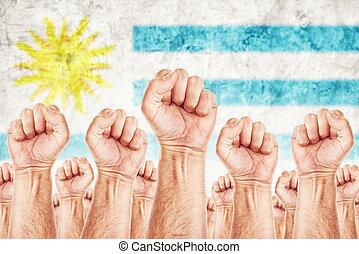 beweging, uruguay, unie, werkmannen , arbeid, staking