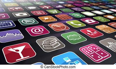 beweglich, apps, seamless, schleife