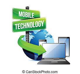 beweglich, elektronisch, technologie, vorrichtungen & hilfsmittel