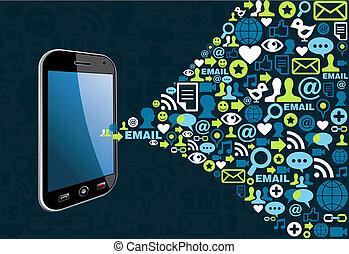 beweglich, emailing, kampagne, marketing