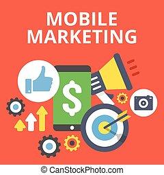 beweglich, marketing, abbildung, wohnung
