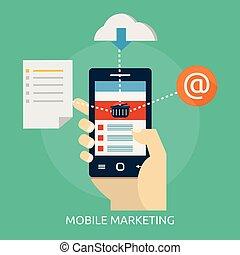 beweglich, marketing, begrifflich, design, abbildung