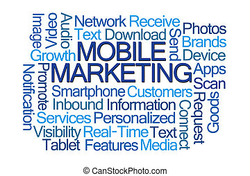 beweglich, marketing, wort, wolke