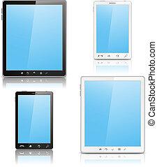 beweglich, pc, tablette, telefon
