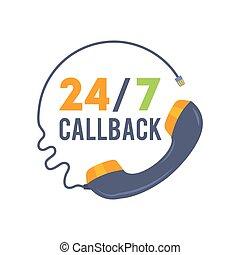 beweglich, web, ikone, callback