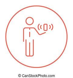 beweglichkeit, linie, icon.