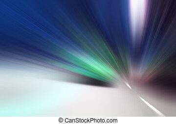 bewegung, abstrakt, geschwindigkeit, hintergrund, beschleunigung, licht
