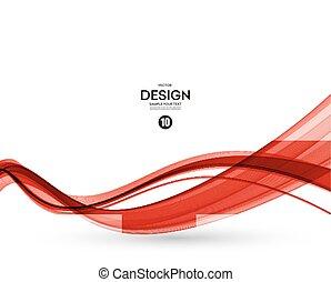 bewegung, abstrakt, glatt, abbildung, welle
