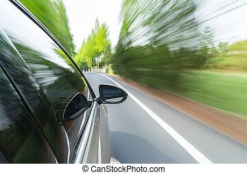 Bewegung, Auto, grün, fahren, verwischen