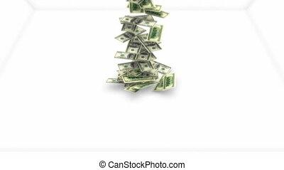 bewegung, dollar, langsam, fließen, uns