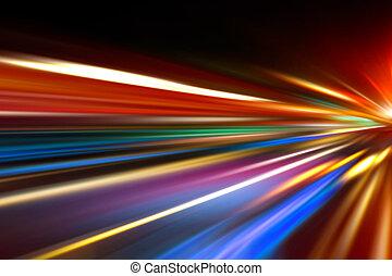 bewegung, geschwindigkeit, straße, nacht
