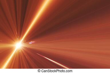 bewegung, licht, abstrakt, geschwindigkeit, raum