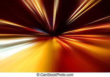 bewegung, zoom, nacht, beschleunigung