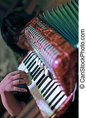 bewegungszittern, abstrakt, von, a, musiker, in, thailand