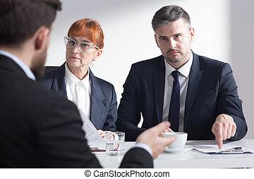 bewerbungsgespräch, gibt, ein, gelegenheit, beglaubigen, informationen, über, kandidat