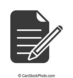 bewerken, pictogram, vector