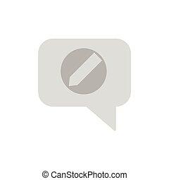 bewerken, praatje, pictogram