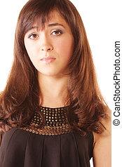 Bewildered brunette