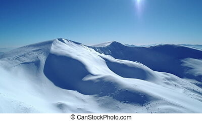 Bewitching view of the majestic snowdrifts located in the ...