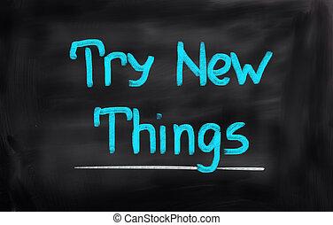 bewjizen, nieuw, concept, spullen