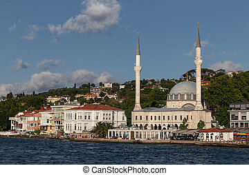Beylerbeyi Mosque in Bosphorus Strait Side of Istanbul, Turkey