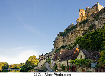 Beynac village and castle