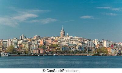 Beyoglu district historic architecture and Galata tower...