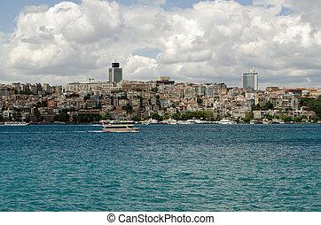 Beyoglu viewed from the Bosphorus, Istanbul