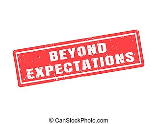 beyond expectations red stamp style