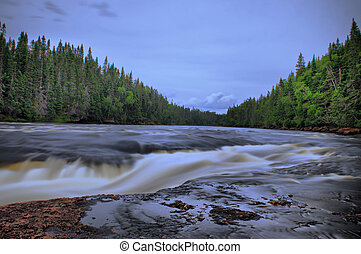 Beyond the falls, Humber River, Newfoundland.