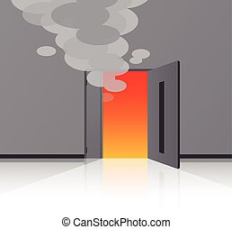 Beyond the fire door