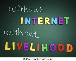 bez, internet, utrzymanie