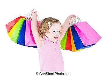bezaubernd, m�dchen, nach, shoppen, verkauf