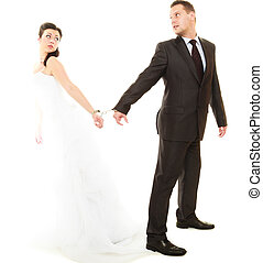 beziehung, in, verheiratet, ehepaar.