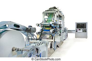 bezig met afdrukken van, machines