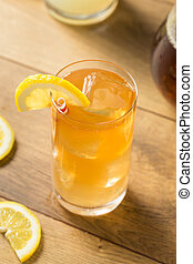 bezig met vernieuwen, koude, thee, iced, limonade