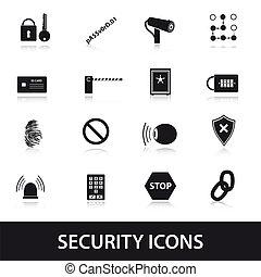 bezpečí, ikona, dát, eps10