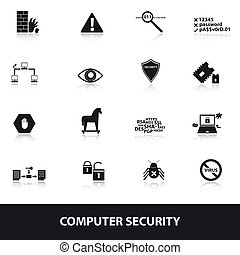 bezpečí, počítač,  eps10, Ikona