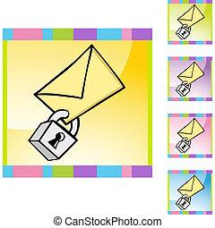 bezpečný, elektronická pošta