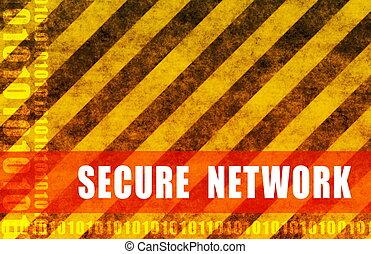 bezpečný, síť