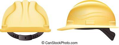 bezpečnost, helmet., konstrukce, helma, osamocený, dále, jeden, neposkvrněný, grafické pozadí., vektor, illustration.