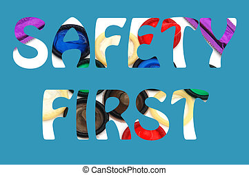 bezpieczeństwo, albo, tło, znak