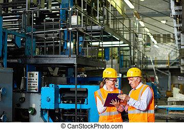bezpieczeństwo, badanie, na, fabryka