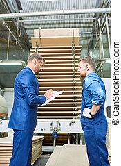 bezpieczeństwo, badanie, na, nowoczesny, fabryka