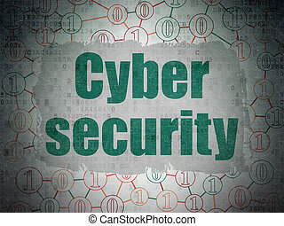 bezpieczeństwo, concept:, cyber, bezpieczeństwo, na, cyfrowy, dane, papier, tło