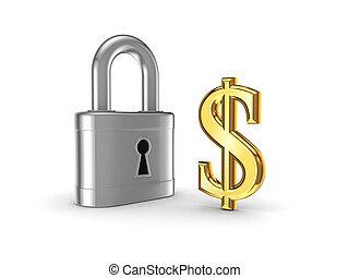 bezpieczeństwo, concept., finansowy