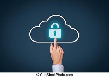 bezpieczeństwo, dane, chmura, obliczanie